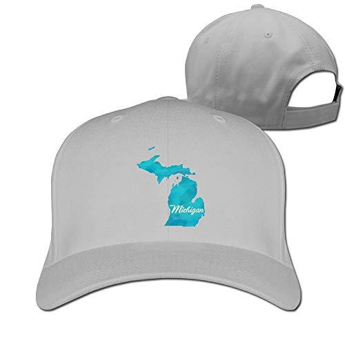 HOT&BOOS Women Men The State Michigan Hip Hop Dad Hat ()
