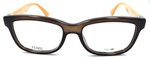 Fendi Montures de lunettes 0009 Fashion Fendista Pour Femme Brown / Ochre, 51mm 7QQ: Brown / Ochre