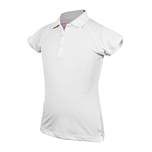 Garb Monica Youth Performance Polo (X-Large, White)