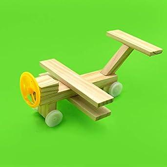 Amazoncom Zamtac Diy Wooden Small Plane Children Handmade