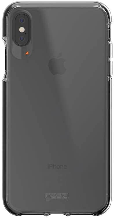 Gear4 Piccadilly Clear Case Advanced Impact Protection by D3O, Compatible with iPhone Xs MAX - Black