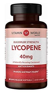 Vitamin World Maximum Strength Lycopene 40mg 60 softgels by Vitamin World