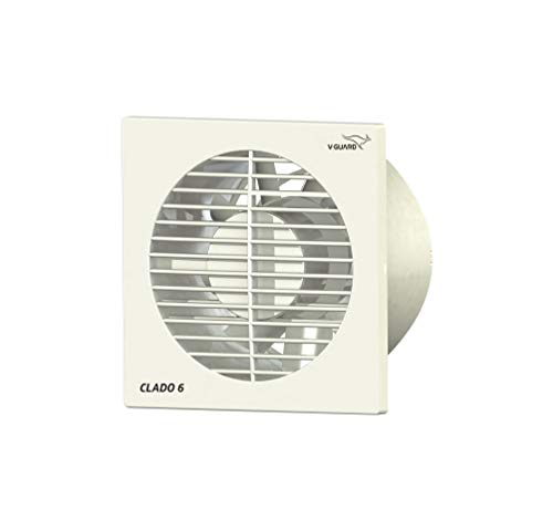 V-Guard Clado 6 Exhaust Fan; Speed: 1900 RPM, Sweep: 150mm & power consumption: 22 W (White)