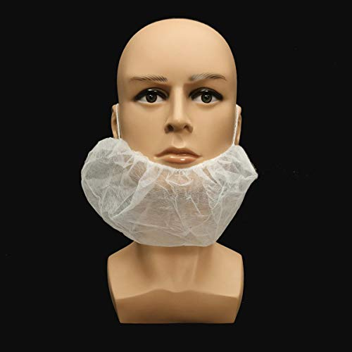 OKIl 100Pcs Disposable Beard Mask Snood Cover Catering Food Safe Beard Mask by OKIl-Tools548 (Image #1)