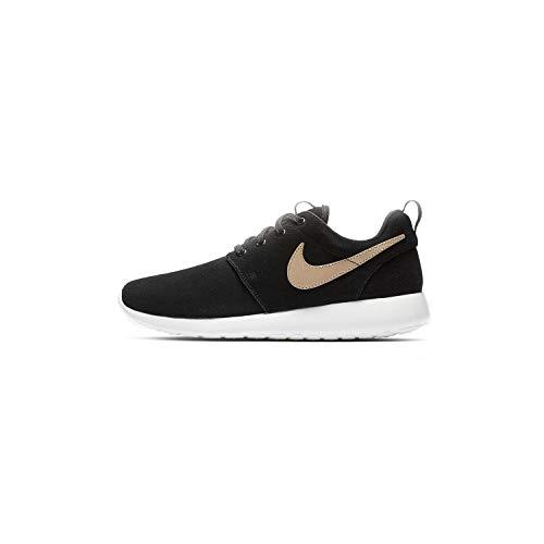 Tan Shoes Black Womens - Nike Women's Roshe One PRM Black/Vachetta Tan/White 833928-010 (Size: 6)