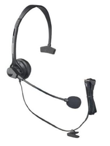 Panasonic Hands-Free Headset with Comfort Fit Headband For The Panasonic KX-TGA931T DECT 6.0 Technology LCD backlit Ringer LED Metallic Black, Office Central