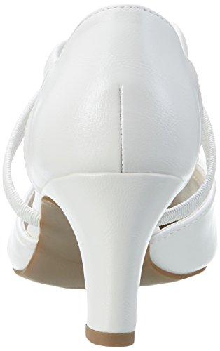 Jane Klain 224 790 Damen Knöchelriemchen Pumps Weiß (WHITE)