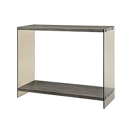 Amazon Com Wood Console Table With Glass Legs Rectangular
