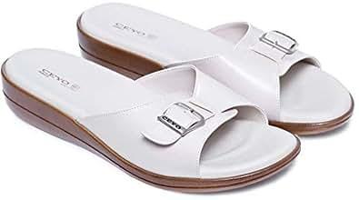 Ceyo Beige Comfort Sandals Sandal For Women