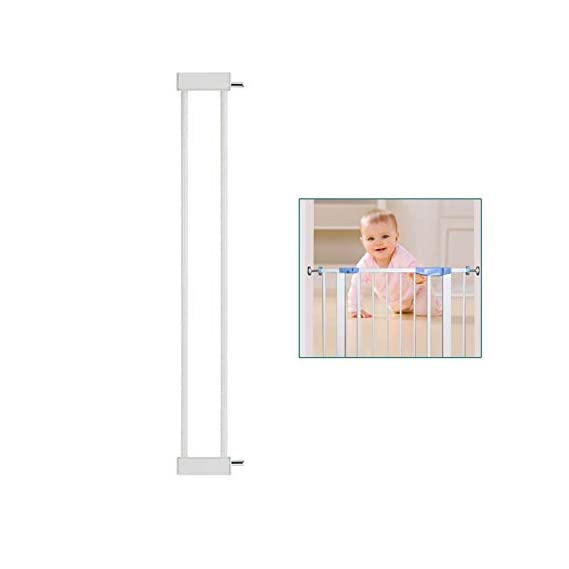 Safe-O-Kid - 10CM Safety Gate Extension/Baby Safety Metal Extension- White