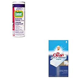 KITPAG32987CTPAG82027 - Value Kit - Procter amp; Gamble Professional Comet Cleanser w/Chlorinol (PAG32987CT) and Mr. Clean Magic Eraser Foam Pad (PAG82027)