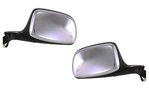 Kool Vue Power Mirror Pair for 92-96 Ford F-150 LH & RH Chrome Folding