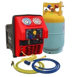(MASTERCOOL Spark Free Twin Turbo Refrigerant Recovery Machine for R1234Yf (MSC-69391))