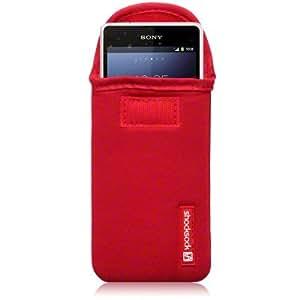 Sony Xperia Z1 Compact de neopreno para/Funda/diseño de/Skin cellapod Shocksock - rojo