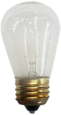 String Light Company S14CB12 S-14 Bulbs, Clear, 12-Pack