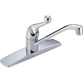 Delta Faucet 100LF-WF Classic, Single Handle Kitchen Faucet ...