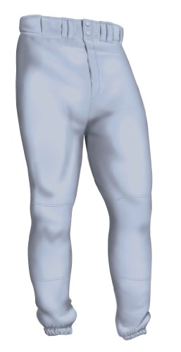 Mens Baseball Pants (Easton Deluxe Pant, Gray,)