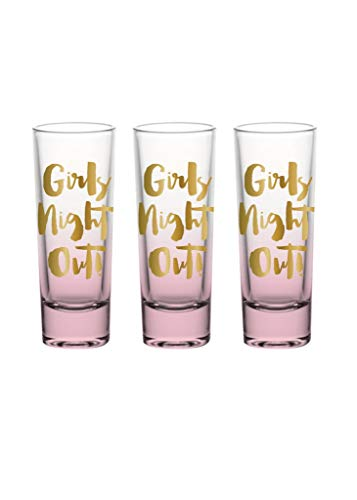 Slant Collections Girls Night Out Shot Glass Set of 3 -