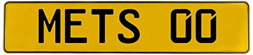 (Vintage Parts 551470 00 MLB New York Mets Yellow Stamped Street Sign Mancave Wall Art)