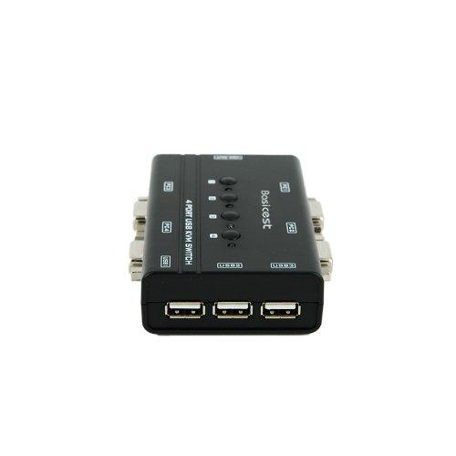 Basicest® BAS2151 Freedom 4 Ports Electronic VGA Switch Box KVM Switch Manual USB KVM by Basicest (Image #2)'