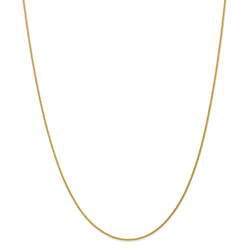 14k 1.2mm Parisian Wheat Chain, Length: 18 in, 14 kt Yellow Gold