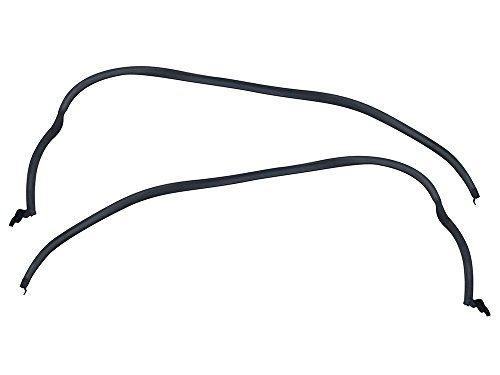 Roof Rail Weatherstrip LH-RH Pair 1967-68 Mustang Fastback Seals Gaskets GT(C7ZZ-6351222-3)