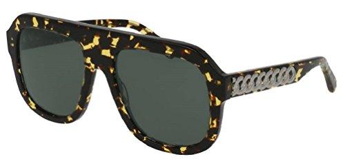 Stella McCartney SC 0065 S- 003 AVANA / GREEN RUTHENIUM - Sunglasses Mens Stella Mccartney