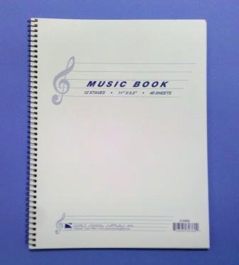 Comet Music Notebook 12 Staves 3-0360