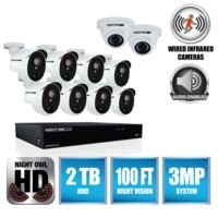 CL-HDA30-161022P - 16CH 1080p TVI Security System with 2TB HDD and 10x1080p Cameras