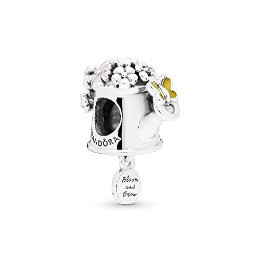 PANDORA Blooming Watering Can Gardening 925 Sterling Silver Charm - 797873ENMX