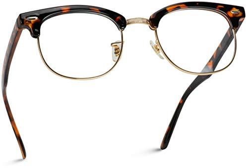 fake glasses half rim - 1