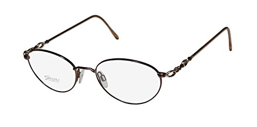 Swank Begonia Womens/Ladies Vision Care Avant-garde Design Designer Full-rim Eyeglasses/Eye Glasses (51-18-130, Brown / - Garde Avant Eyeglasses