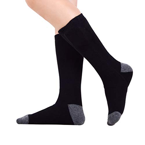 callm Rechargeable Heating Cotton Heated Socks Keep Warm Foot Electric Warming Charge,Safety Temperature,Far Infrared Heating,Intelligent Temperature Control (Black)