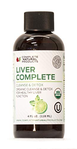 Liver Complete 4oz - Organic Liquid Liver Support Supplement Liver Cleanse & Liver Detox Formula Liver Refresh & Rescue