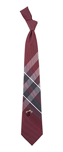 Miami Heat Grid Neck Tie with NBA Basketball Team Logo
