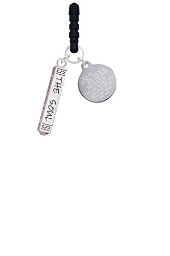 Hope Anchors the Soul Bar Stronger Braver Smarter Phone Charm