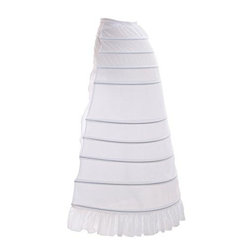CosplayDiy Petticoat 9 Hoop Crinoline Underskirt For Civil War Wedding Cosplay Dress by CosplayDiy