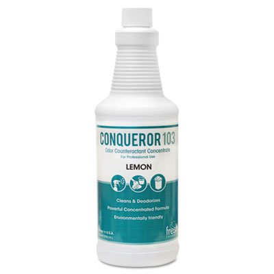 CONQUEROR 103 ODOR COUNTERACTANT CONCENTRATE, LEMON, 32 OZ BOTTLE, 12/CARTON