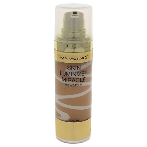 (Max Factor Skin Luminizer Miracle Foundation, No. 60 Sand, 1 Ounce)