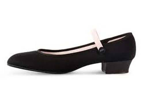 bloch canvas low heel character shoes black national syllabus size 1.5 by Bloch