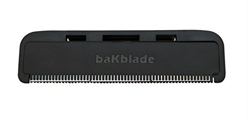 """BaKblade 1.0 """"Bigmouth"""" Back Hair & Body Shaver Refill Replacement Cartridges. 4"""" Extra-Wide Wet or Dry Disposable Razor Blades (3 Razors Included) by baKblade (Image #2)"""