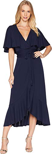 Womens Couture Dress (Juicy Couture Women's Knit Jersey Wrap Midi Dress Regal Small)
