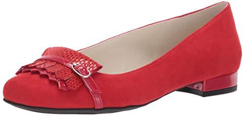 Anne Klein Women's ULANEE Loafer Flat, Cherry red, 8 M US