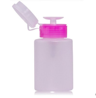 CYNDIE Empty Plastic Press Pump Bottle 150ml for Nail Art Polish Wash Remover Alcohol Liquid Cleaner Nail DIY - Polish Plastic Diy
