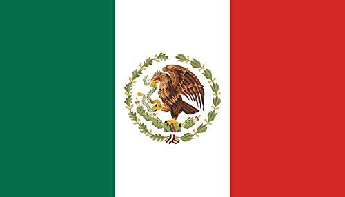 Q&J Bandera Oficial de Mexico - Medidas 150 x 90 cm. - Polyester 100% - para Exterior e Interior: Amazon.es: Jardín