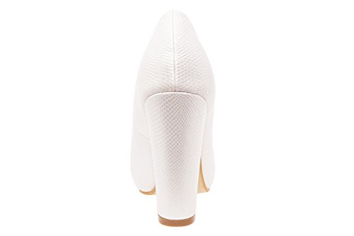 MachadoPeep Andres Engraved White Femme toe n0ON8wPXk