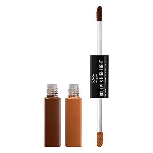 NYX Professional Makeup Sculpt & Highlight Face Duo, Espresso/Honey, 0.34 Ounce