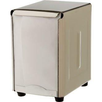 WIN-WARE Classic Restaurant 50's Chrome-Look Stainless Steel Tabletop Napkin Dispenser. (Napkins Sold Separately)