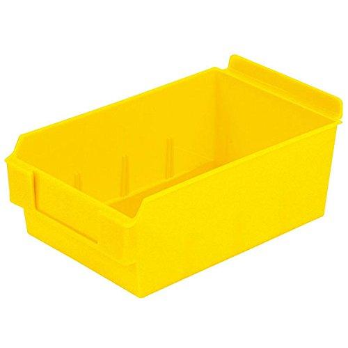 Retail Yellow Shelfbox Style 200 measures 9.25''d x 5.51''w x 3.74''h by Shelfbox