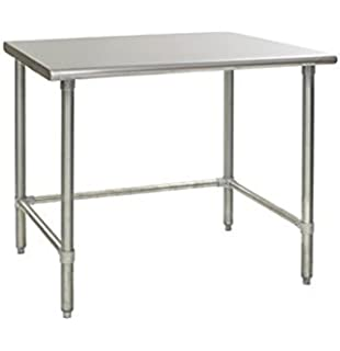 Amazoncom Heavy Duty Stainless Steel Prep Work Table With Crossbar - Stainless steel table 18 x 24